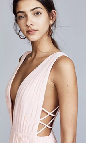 NEW Free People x Fame /& Partners Pleated Allegra Maxi Dress Gown