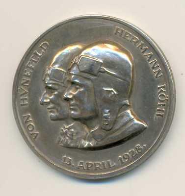 German First Atlantic Crossing Bremen Silver Medal 1928