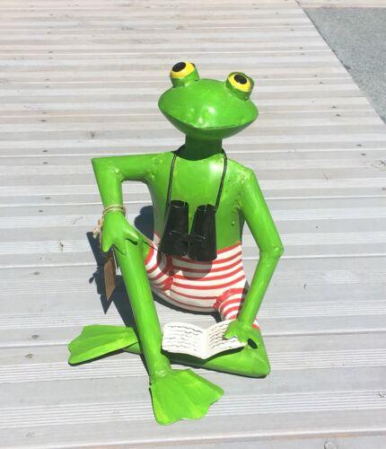 Frosch Otto Exner Handarbeit Metall Deko Skulptur Gartendeko 45 cm