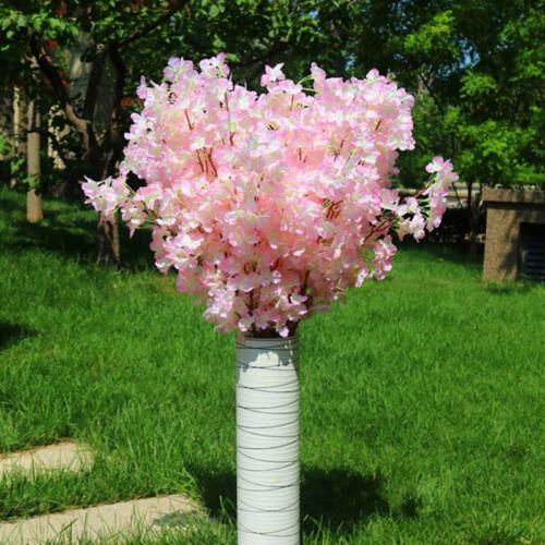 1pcs artificielle Fleur de Cerisier Fleurs Branches soie Tall Faux Décoration Fleur