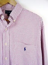 MENS 100% GENUINE RALPH LAUREN BLAKE L/S WHITE/RED CHECK SHIRT L/XL RRP £85