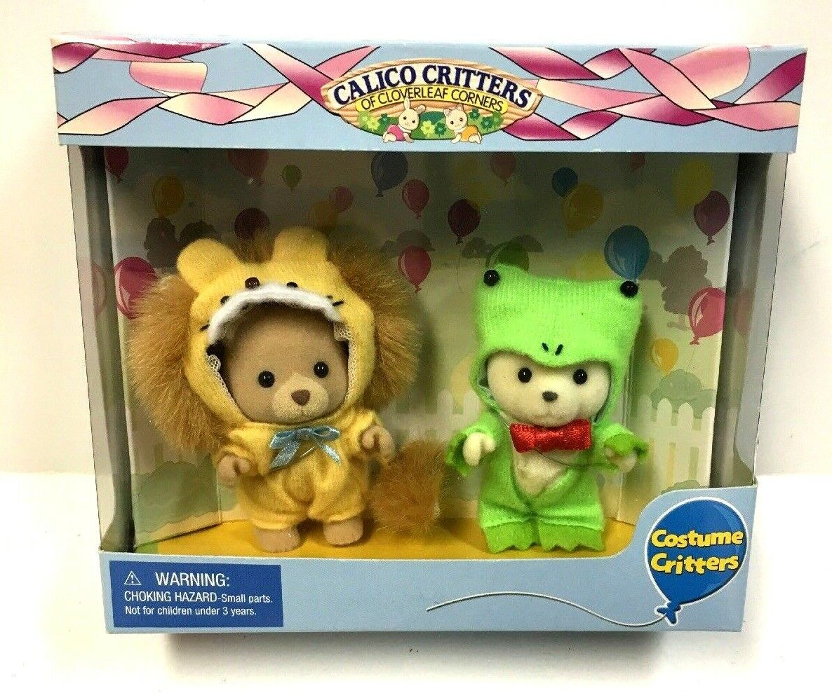 Calico Critters Costume Critters - Lion and Frog CC9011 RARE NIB