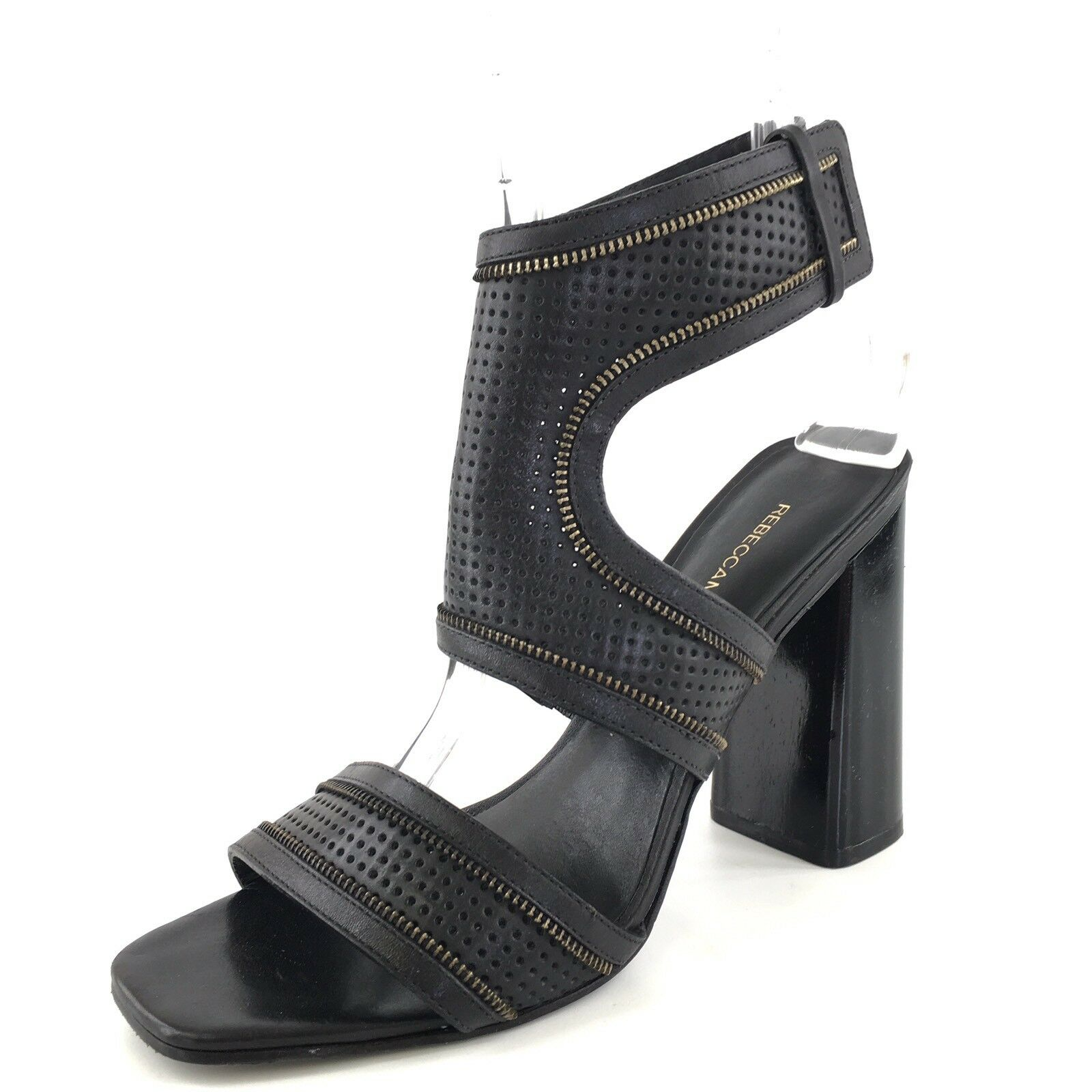 Rebecca Minkoff Christy Black Leather Ankle Cuff Sandals Women's Size 8.5 M*