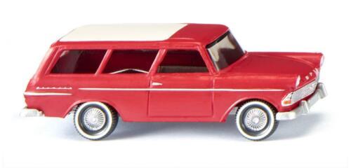 Wiking h0 007149-OPEL REKORD/'61 Caravan-Rosso Merce Nuova