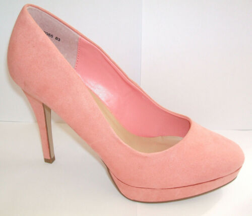 7 Décolleté New 8 40 tacco con alto Pink Suede medio Fit Look Fx Wide Coral 42 Size xw7wBF1