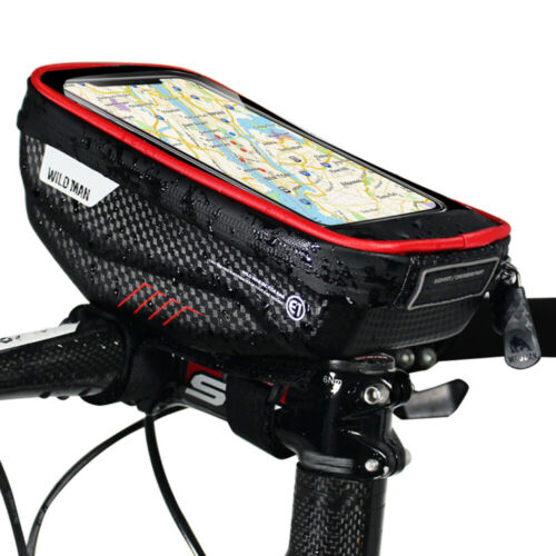 Bike Phone Bag Waterproof Bicycle Front Frame Top Tube Holder Case Cycling Pouch