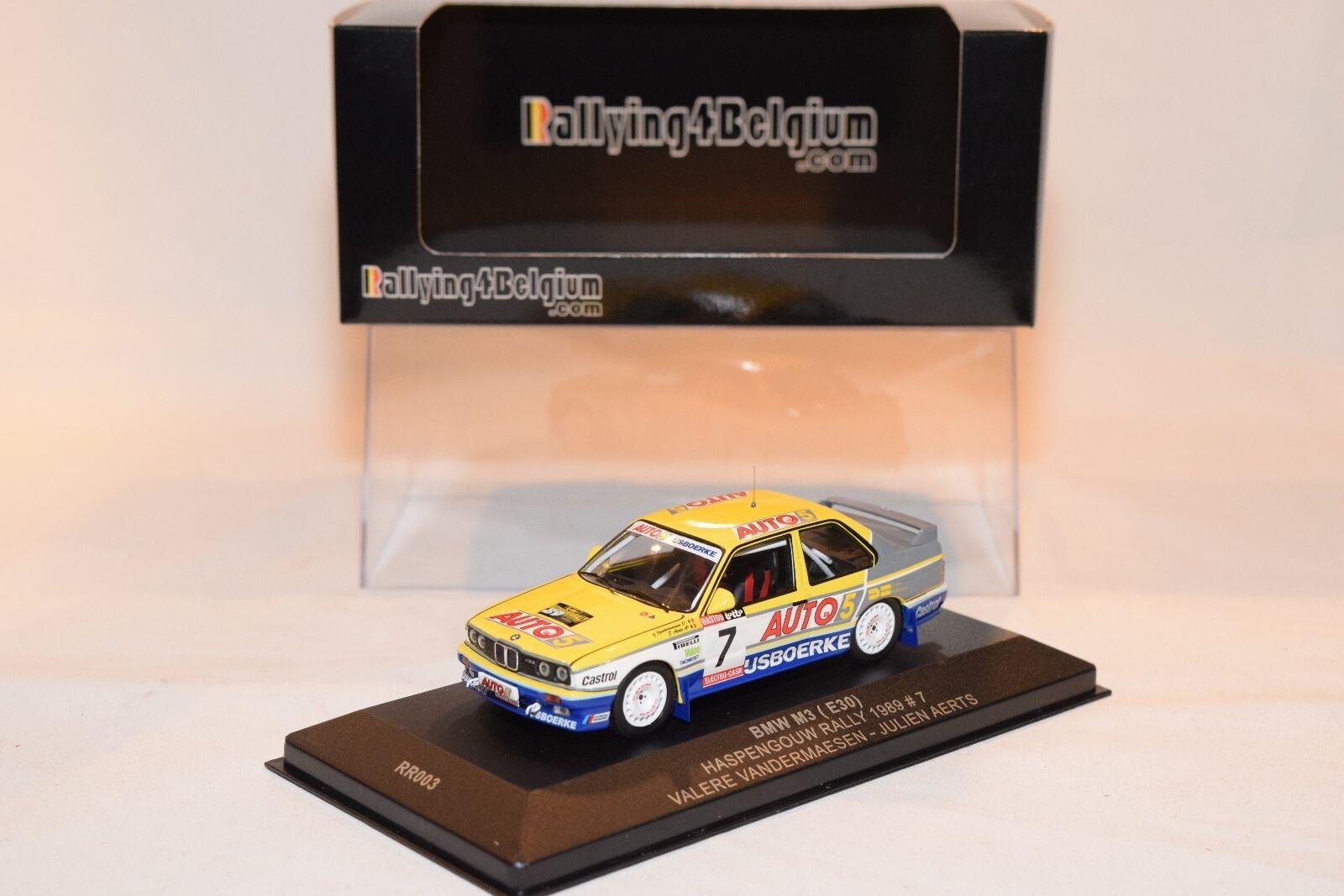 RALLYING4BELGIUM RR003 BMW M3 E30 HASPENGOUW RALLY 1989 AERTS VANDERMAESEN