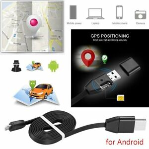 Car Vehicle GPS Tracker IOS/Micro USB Charger Cable Real
