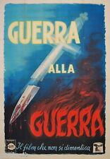 manifesto 4F film GUERRA ALLA GUERRA Romolo Marcellini 1948 Ballester art