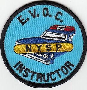 NEW YORK STATE POLICE EVOC INSTRUCTOR (EMERG. VEH. OPER. COURSE) V2 PATCH NYSP