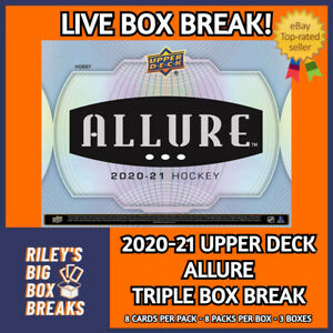 2020-21 UPPER DECK ALLURE (x3) TRIPLE HOBBY BOX BREAK #163 - PICK YOUR OWN TEAMS