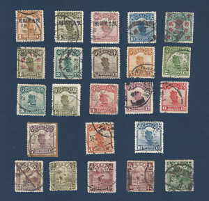 LOT-OF-23-CHINA-JUNK-STAMPS-ALL-DIFFERENT-MANCHURIA-OVERPRINT-STAR-SURCHARGE