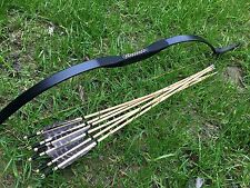 6 wooden arrows with 20lb-60lb Archery longbow recurve bow for right/left hands