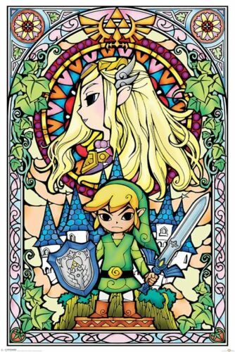 - Maxi Poster 61cm x 91.5cm F008 PP33735 The Legend Of Zelda Stained Glass
