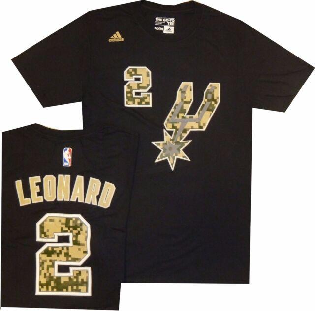 sale retailer 6497c 4ade1 San Antonio Spurs Kawhi Leonard Adidas Black Camo High Def Gametime T Shirt  $32