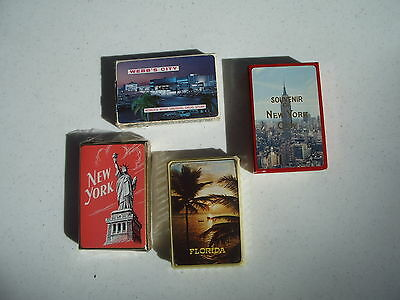 Playing Swap Cards Lot of 4 Decks Souvenir Florida New York Webb City 2 Sealed
