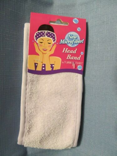 TURBIE TWIST MICROFIBER HEAD BAND--LIGHT PURPLE  NWT