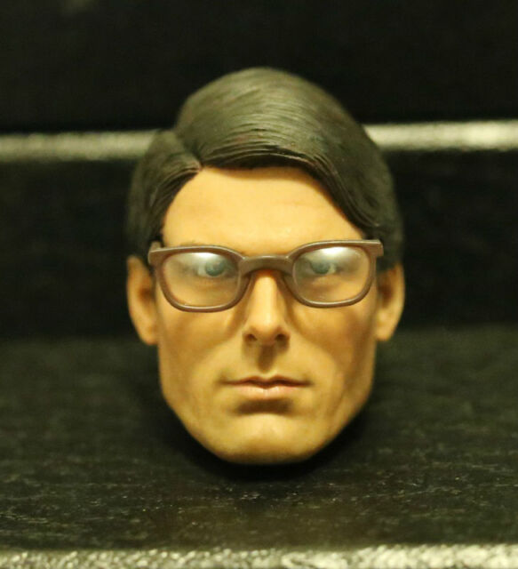 Custom made ! clark kent Christopher Reeve Superman 1978 1/6 HEAD ONLY