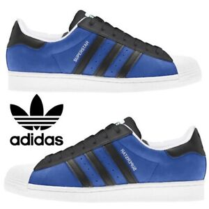 Adidas-Originals-Superstar-Sneakers-Men-039-s-Casual-Shoes-Running-Blue-Black-White