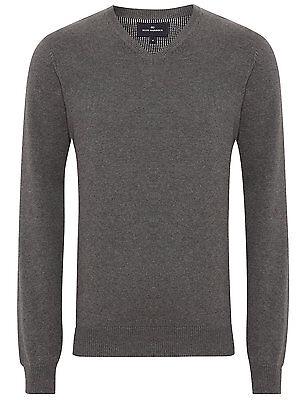 Marks & Spencer Mens Blue Harbour M&S New V Neck Jumper Sweater Pullover Top