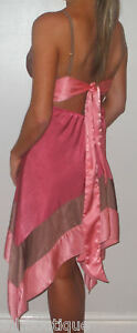 VICKY-MARTIN-pink-shimmer-BACKLESS-cocktail-dress-8-10-12-BNWT-WEDDING-party