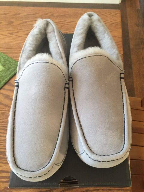 7cd2953c53b UGG Mens Ascot Grey Marble Bottom Suede SLIPPER Shoe Size 11 US RARE Color