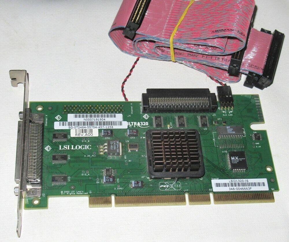LSI Logic PCI-X 133 U320 SCSI Controller LSI21320-IS w/ Cables