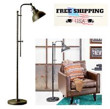 Floor Lamp Bleeker Industrial Style Adjustable Height Aged Dark Zinc Finish NEW