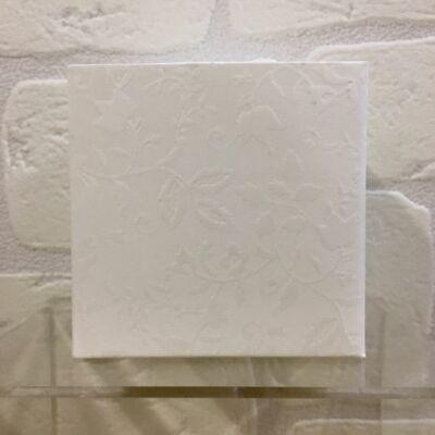 20 PEZZI HARMONY BIANCO Scatola pieghevole portaconfetti 8x8x8 cm