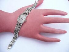 FAB LADIES 18CT WHITE GOLD OMEGA DE VILLE WIND UP WATCH & STRAP 35 GRAMS IN FWO