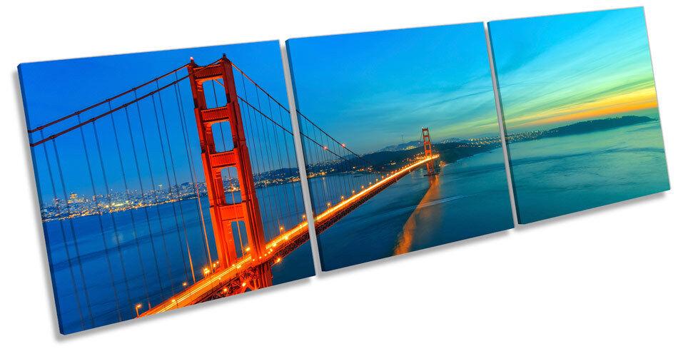 Golden Gate Bridge CANVAS WALL ART TREBLE Box Frame Print