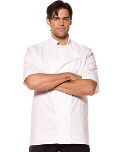 Image is loading Chef-Mens-Adult-White-Cooks-Halloween-Costume-Accessory-  sc 1 st  eBay & Chef Mens Adult White Cooks Halloween Costume Accessory Shirt-Xxl ...