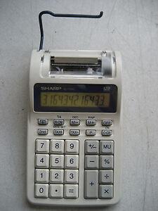 used sharp el 1701c 12 digit 1 4 lps portable printing calculator rh ebay com sharp el-1701v user manual sharp el-1701c calculator manual