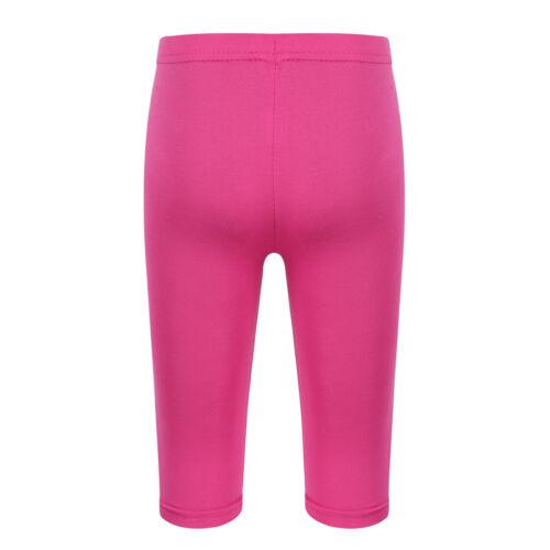 Girls Ritagliato Bambini Modal Capris Leggings Basic Elastico per Bambini Pantaloni Casual
