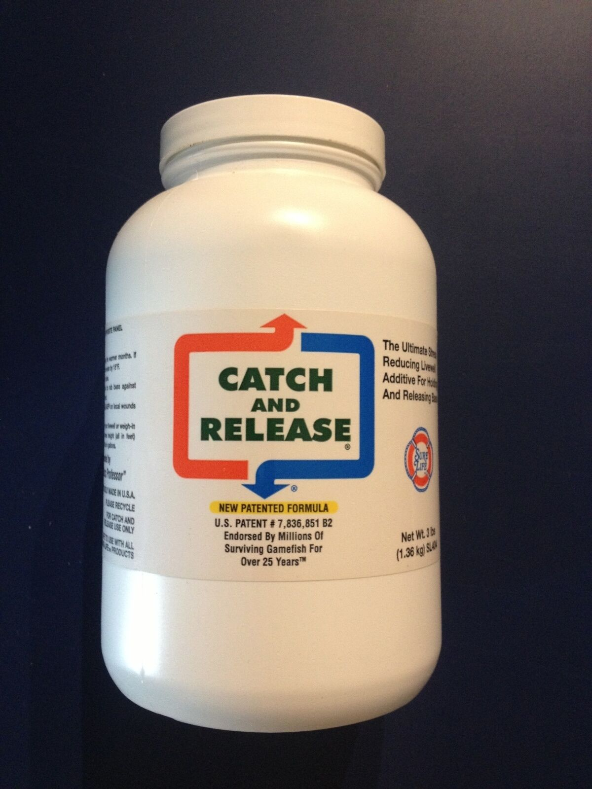Sure Life CATCH AND RELEASE 3 LB.  BOTTLE  BASS and WALLEYE FORMULA SL404