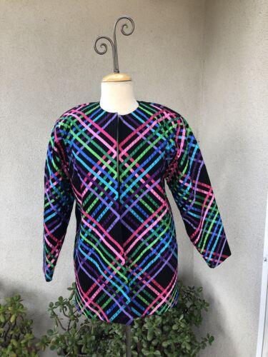 Vintage Boho Mexican Black Jacket Ribbons By Tachi