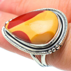 Large-Mookaite-925-Sterling-Silver-Ring-Size-7-75-Ana-Co-Jewelry-R31490F