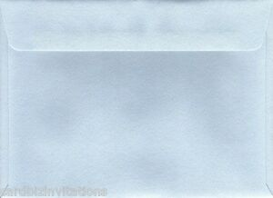5 1 8 x 7 inch baby blue envelopes 20 quality textured 130mm x