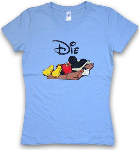 MOUSE TRAP DAMEN T-SHIRT Mausefalle Maus Comic Mickey Fun Die Dead