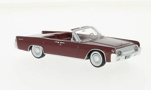 Lincoln continental cabrio  dunkelrot   53a 1961 (neo - skala 1 43   47050)