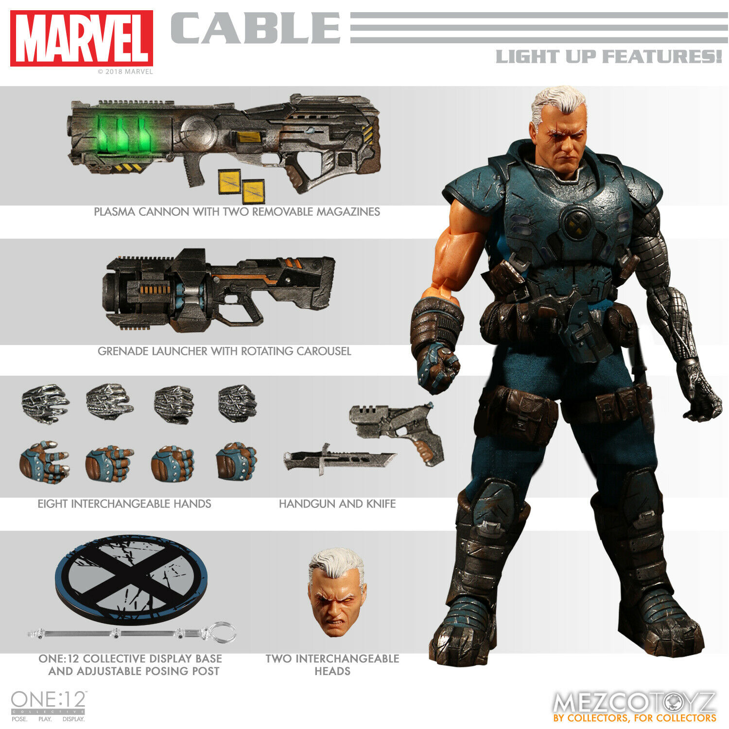 MEZCO One 12 Marvel Collective CABLE Action Figure MIB