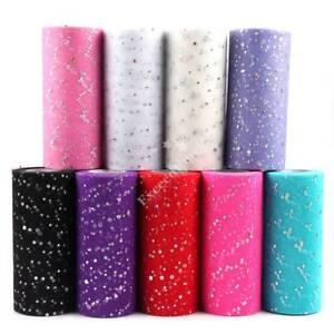 6-034-25Yd-Sequin-Tutu-Dress-Tulle-Roll-Fabric-Craft-Soft-Bridal-Trim-Wedding-Favor