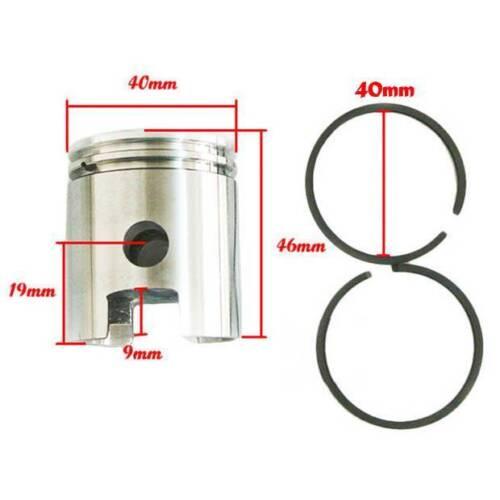 40mm 45mm 47mm  Piston /& Ring Kit For 49//50//60//66//80cc Motorized Bike Engine