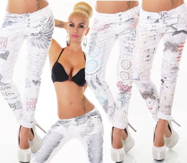 100% De Calidad Wow Sexy Italy Pantalones Vaqueros Baggy Boyfriend Chinos Estilo 10 Modelos S M