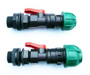 3-4-034-BSP-Tank-Adapter-with-in-line-ball-valve-to-MDPE-Compression-Connector