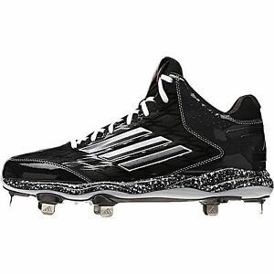 Details about Adidas PowerAlley 2 Mid Men's Metal Baseball Cleat (Black Carbon Met Carbon)