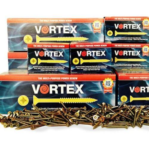 Vortex Multi Purpose Power Screws 3.5 x 30mm Box 200 Woodscrews Dble Countersunk
