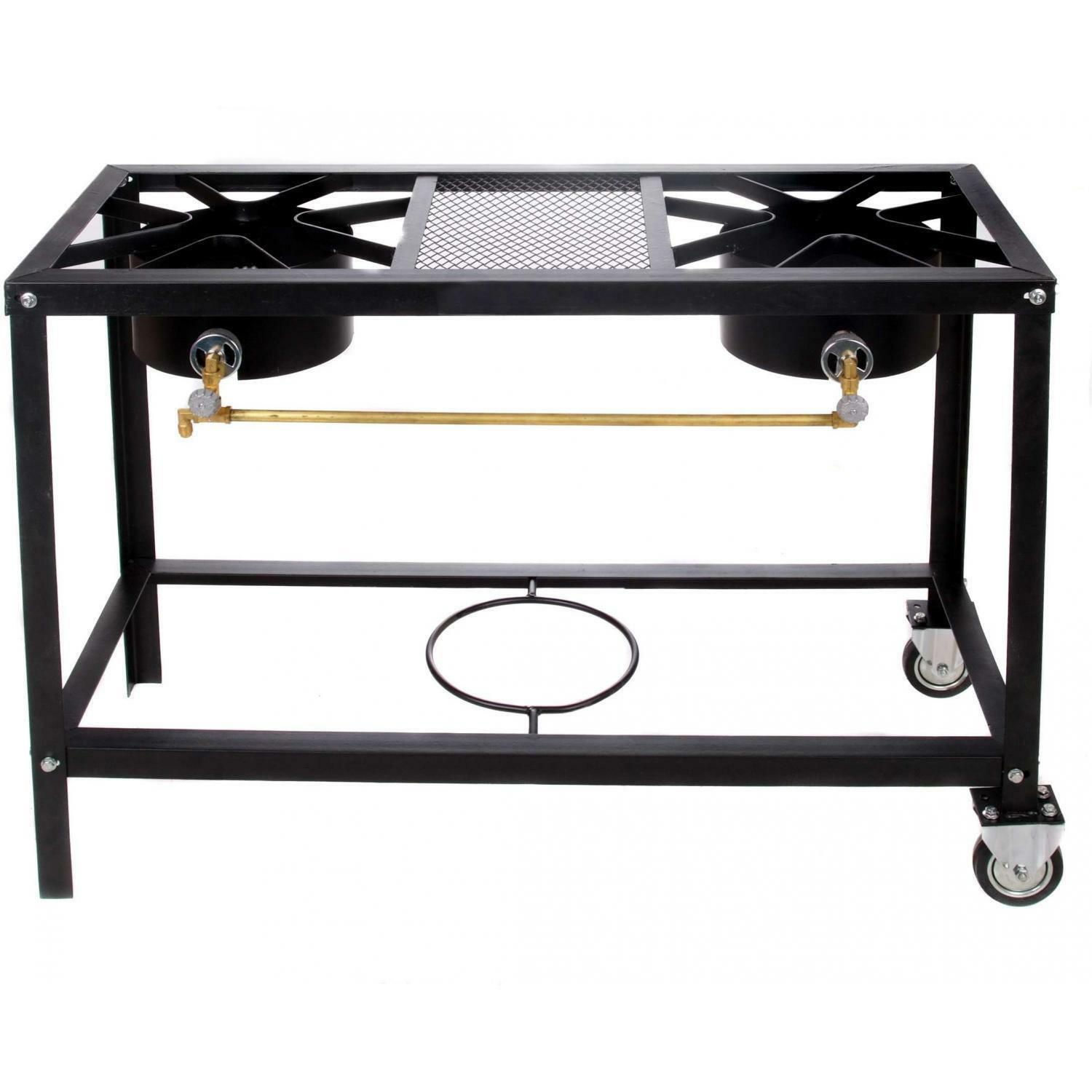 Cajun Classic 2-Burner Propane Gas Stove On Cart