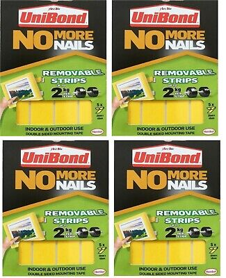 Unibond No More Nails Picture Hanging Strips Double Sided