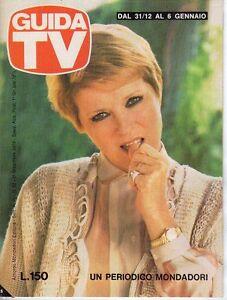 Respectueux Rivista Guida Tv Anno 1978 Numero 52 Delia Scala